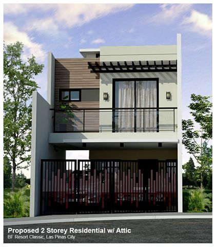A 2 Storey House and Lot with Attic in BF Resort