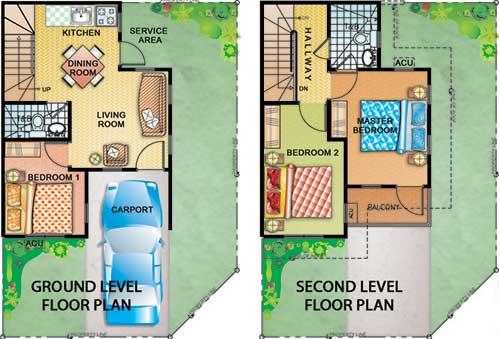 Cavite townhouse nr splash island 60sqm fa 3bdrm pines for Townhouse design plans philippines